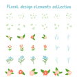 Decorative floral design elements collection vector image vector image