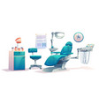 dentist office dental cabinet interior stomatology vector image vector image