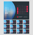 desk calendar for 2019 year design print template vector image