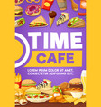 fast food snack and dessert vector image vector image