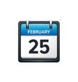 February 25 Calendar icon vector image vector image