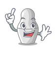 finger nesting doll russian matryoshka on mascot vector image