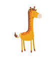 giraffe cartoon colorful silhouette in white vector image vector image
