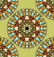 Green Mandala Patterned Background vector image vector image
