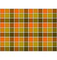 Green orange khaki check seamless background vector image vector image
