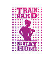 gym t-shirt design print with exercising girl vector image vector image