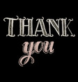 hand drawn chalk lettering thank you vector image vector image