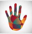 hand palm abstract texture vector image
