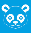 head of panda icon white vector image vector image