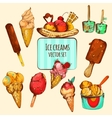 Ice Cream Sketch Colored vector image vector image