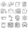 icons on the school theme set on a white vector image