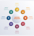 infographic template eight option circles banner vector image vector image