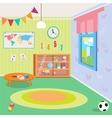 Kindergarten Room Interior with Toys vector image vector image