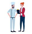labor day job cartoon vector image