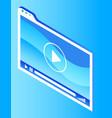 media display symbol for digital marketing vector image vector image