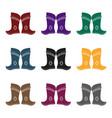 military boots of the mongolspart of the national vector image vector image