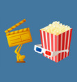 movie award for best film and action popcorn vector image