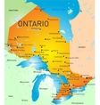 Ontario Province Map vector image vector image