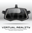 Original stereoscopic 3d vr headset Front view vector image vector image