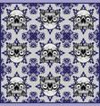 ornamental skull seamless pattern vector image vector image