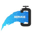 plumbing and piping services vector image vector image