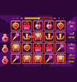 princess girlish interface match3 games vector image vector image