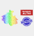 rainbow colored factory altai republic map vector image vector image