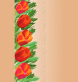 red tulips - card design vector image vector image