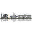 saint petersburg russia skyline with gray vector image