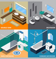 sanitary engineering isometric design concept vector image vector image