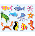 Sea animals vector | Price: 1 Credit (USD $1)