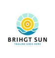 sea sun inspiration logo design vector image