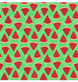 Seamless Pattern Watermelon Triangle Slice Green vector image vector image