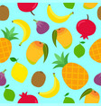 seamless pattern with tropical fruits vector image