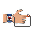 smartwatch heartbeat pulse vector image vector image