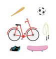 sport items and equipment collection flat vector image vector image