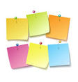 sticky notes with pins vector image vector image