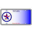 texas auto license plate vector image vector image