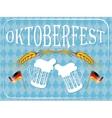 Vintage styled emblem for Oktoberfest festival vector image vector image