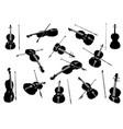 violin set vector image