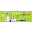 Waste Recycling Infographic Concept vector image