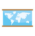 world map cartoon vector image vector image