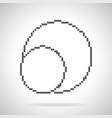 plates icon pixel art style vector image