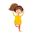 Girl dancing with headphones young beautiful woman vector image