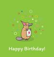 funny cute platypus in a festive cap vector image