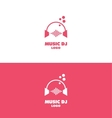 Music dj headphones logo volume vector image