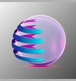 3d of the clear sphere vector image