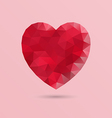 Abstract geometric heart shape vector image