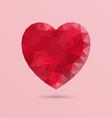 Abstract geometric heart shape vector image vector image