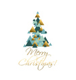 abstract geometry concept christmas tree green vector image